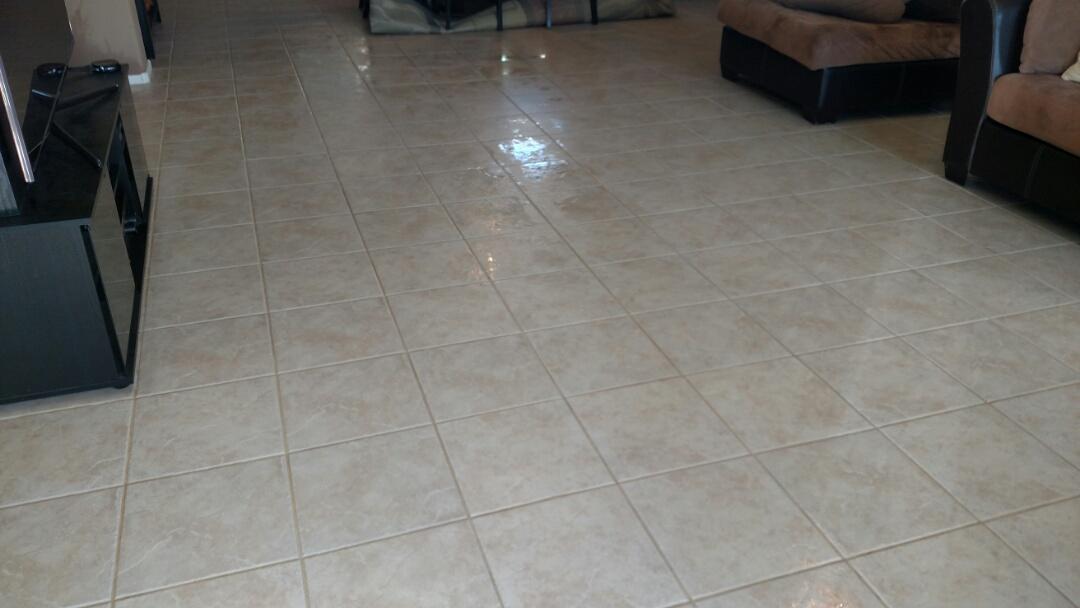 Gilbert, AZ - Cleaned carpet and tile for a regular PANDA family in Gilbert, AZ 85295.
