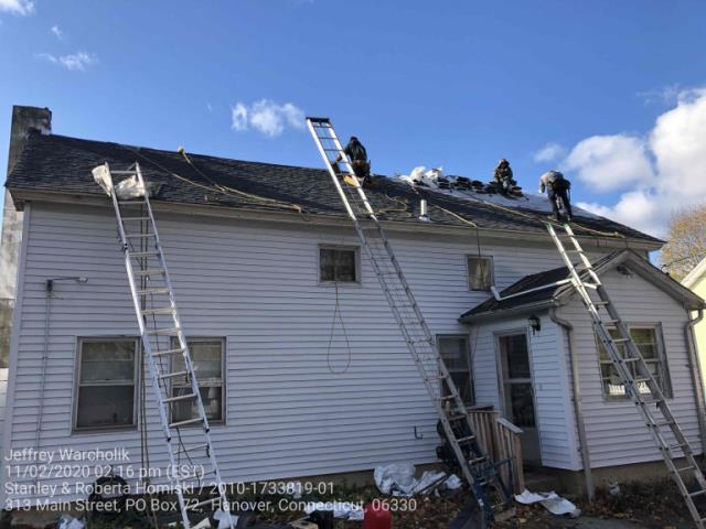 Sprague, CT - Roof replacement in Hanover, CT