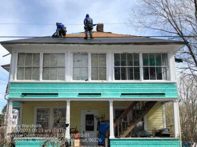 Windham, CT - Roof replacement in Willimantic