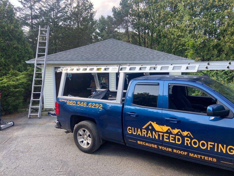 Woodstock, CT - New garage roof in Woodstock, CT