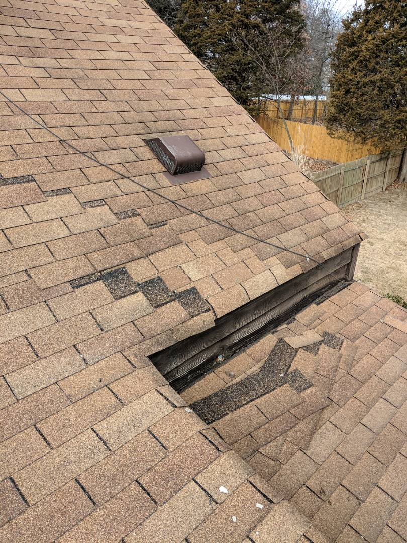 Fenton, MO - Wind damage to homeowners roof.  Homeowner requested full roof bid