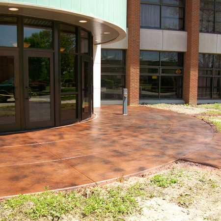 Dayton, OH - Concrete Stain is a very affordable option to transform your concrete. Concrete staining is 100% customizable and comes in an unlimited arrangement of colors. The only limitation to this system is your imagination!