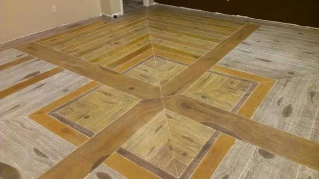 Dayton, OH - Our Rustic Wood Epoxy floor system is great for restaurant floors, commercial flooring, epoxy garage floor, epoxy basement floor, and more. This is not your typical wood flooring!