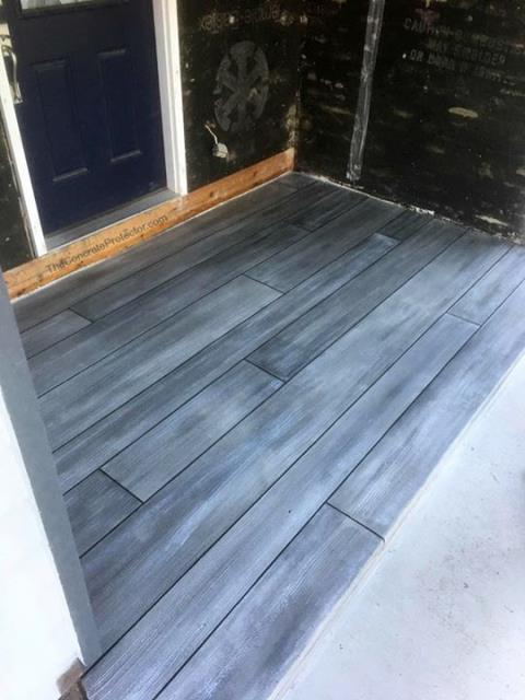 Troy, OH - Weathered Gray Concrete Wood is perfect for epoxied garage floors, patios, porches, pool decks, and more!  This beautiful epoxied floor option has endless design possibilities. Contact us today for fast and friendly service!