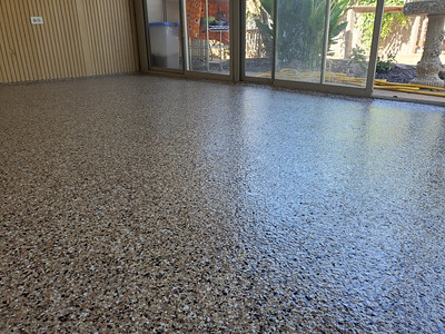 Troy, OH - Let your floor shine with EPOXY FLAKE! The color options and combinations for this garage floor epoxy are endless and not just your typical garage floor paint!
