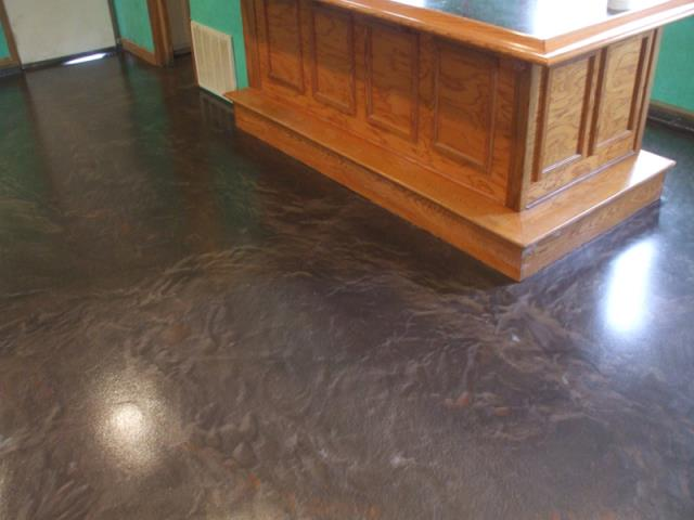 Troy, OH - Above and beyond conventional concrete staining, Metallic Epoxy Floors gives you the colorful, three-dimensional look of marble floors for a fraction of the price.