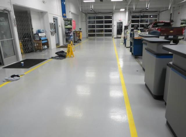 Columbus, OH - In need of a USDA approved seamless garage flooring epoxy surface? The Resinous 123 Floor System is the right choice for you! Great for those large garages or facilities!