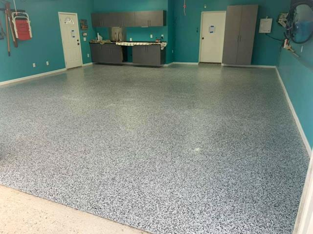 Eaton, OH -  Are you in need of a new garage flooring coating? Rather it is a coating repair or complete remodel, we provide it! Give us a call for a free quote!
