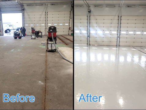Dayton, OH - Hard-working, knowledgeable in what they do, honest, and professional! The American Dynamic Coatings team came in and ground and polished our industrial warehouse concrete garage floors! They were able to level out the cracks, minimize damages, and give the floor a beautiful shine! Brant takes his time to ensure quality results for his clients! Highly recommend Brant and his crew!