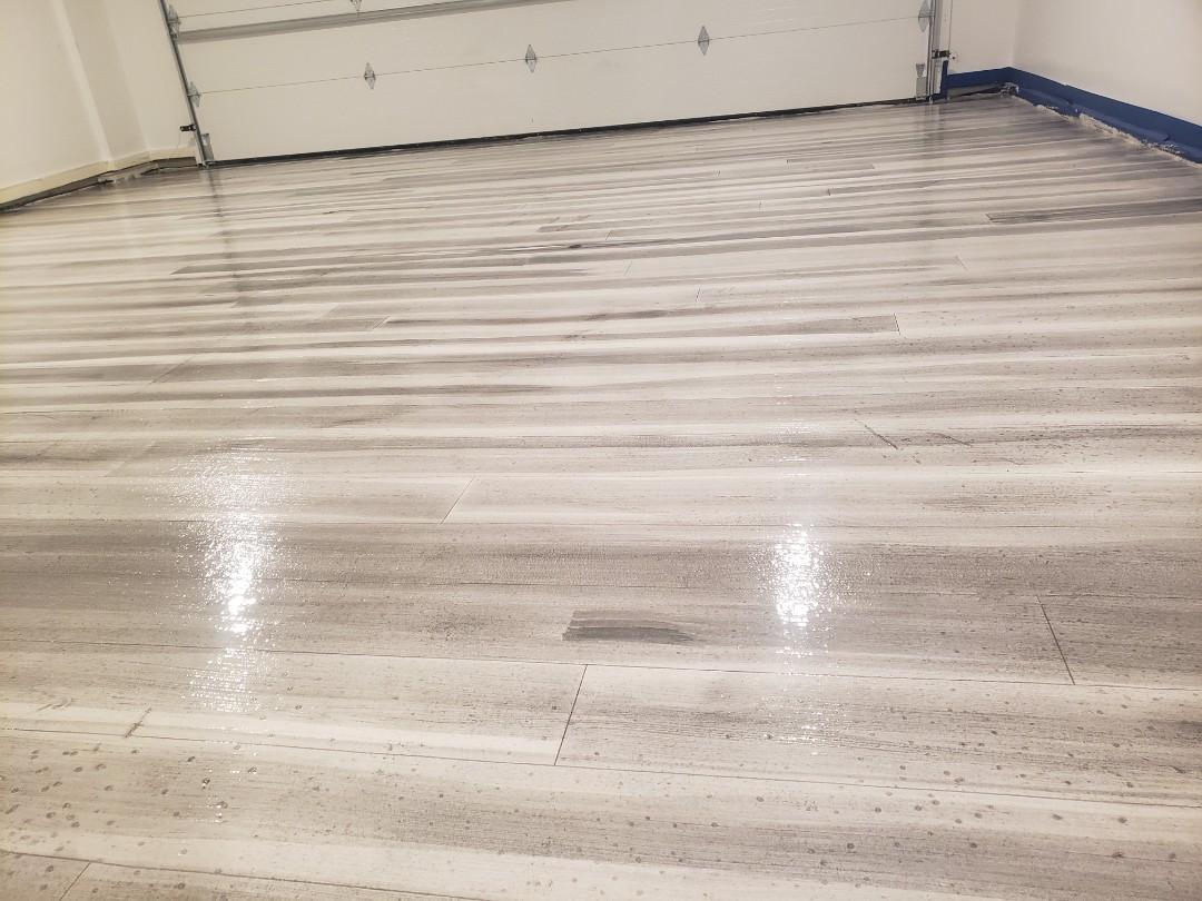 Eaton, OH - Rustic concrete wood epoxy flooring