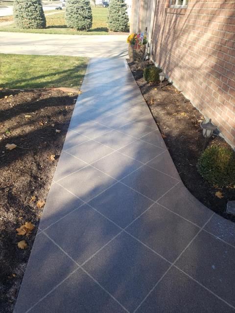 Xenia, OH - I had American Dynamic Coatings resurface my walkway up to my home, and I could not be more satisfied!! Brant and his crew are very professional, trustworthy, and honest. If they tell you they are going to do something, they stick to their word! I am so happy we decided to give Brant a call instead of doing ourselves!! It was a pleasure to do business with them, and I highly recommend their services!!