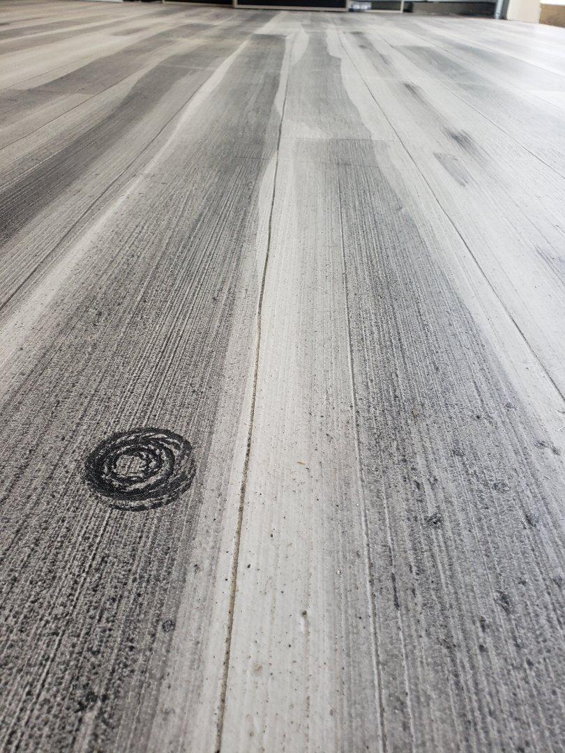 Bellefontaine, OH - Epoxy floor resurfacing rustic concrete wood