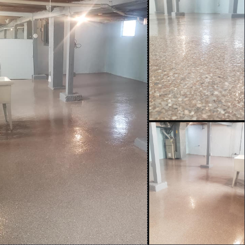 Sidney, OH - We recently had American Dynamic Coatings do an epoxy flooring in our basement, and it turned out great! The color combination is absolutely beautiful! My once dark, cold, and creepy basement is now a space that brings light and joy into the room! Who knew changing the floor would change the entire room's atmosphere! Brant and his crew are fantastic to work with, and I wouldn't recommend anyone else for the job! 100% satisfied customer right here!!!