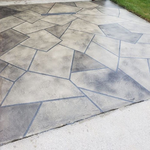 Richmond, IN - The American Dynamic Coatings crew created this beautiful stone design on my concrete driveway! Brant is very knowledgeable about his products and really spends the time to make sure you are getting exactly what you want!! The finished look is without a doubt better than any basic looking concrete driveway around me!! This crew is definitely the best in the area!! I would highly recommend their services over and over again!