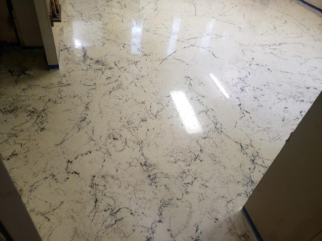 Sidney, OH - Italian marble epoxy flooring Metalic marble