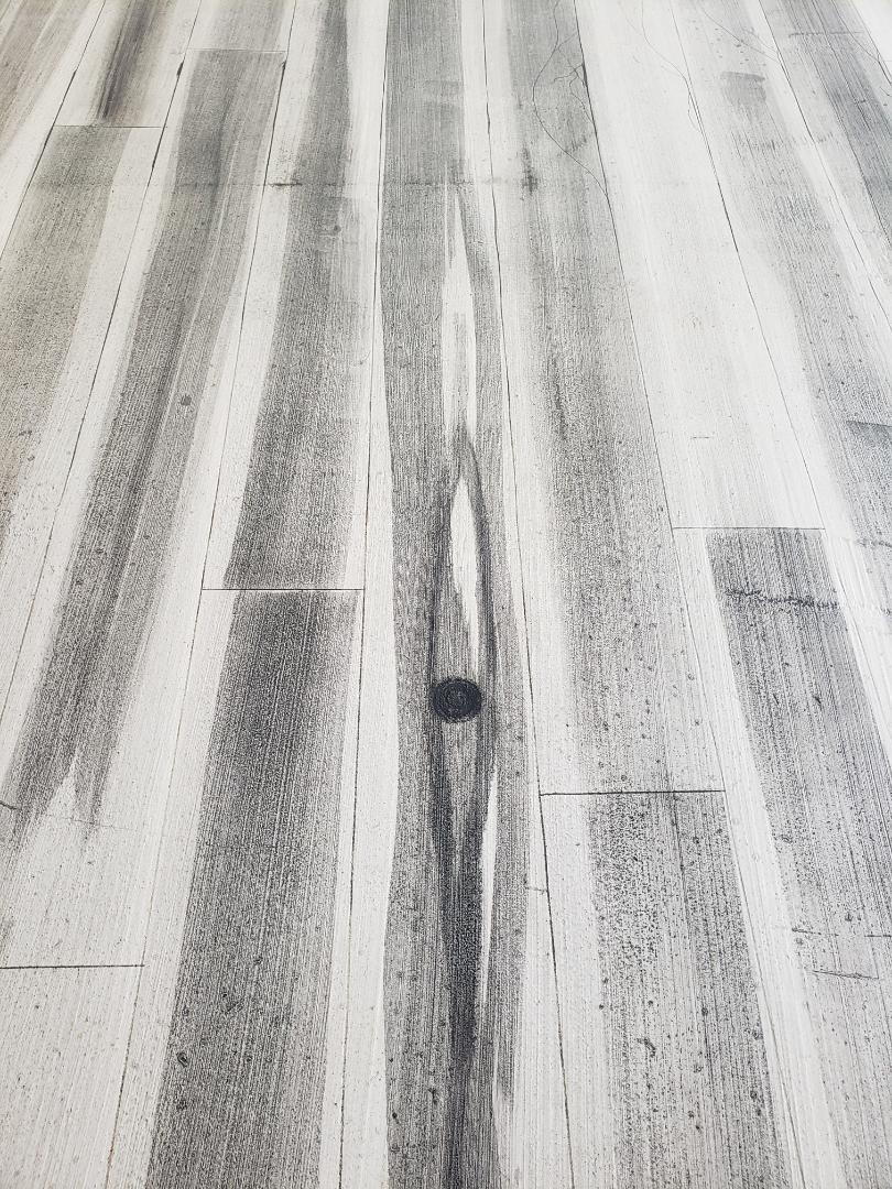 Bellefontaine, OH - Epoxy basement flooring rustic concrete wood