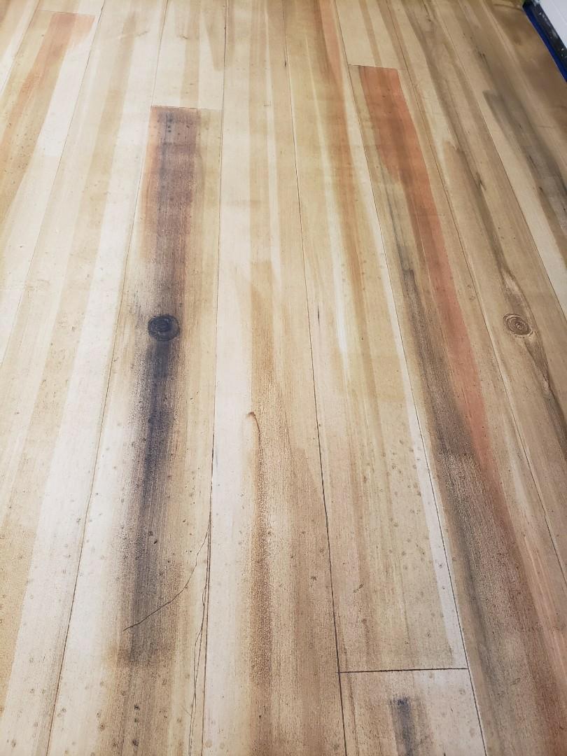 Celina, OH - Epoxy basement resurfacing rustic concrete wood
