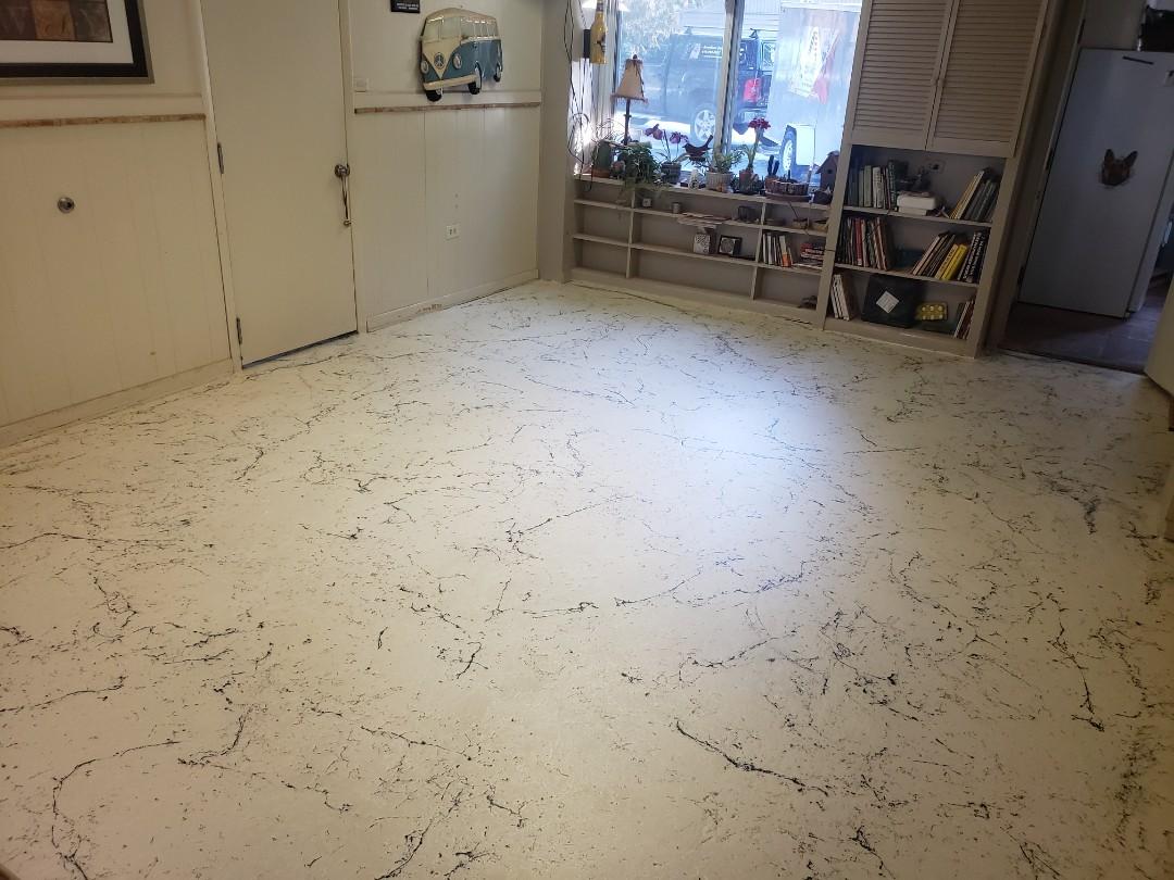 Celina, OH - Italian marble epoxy resurfacing
