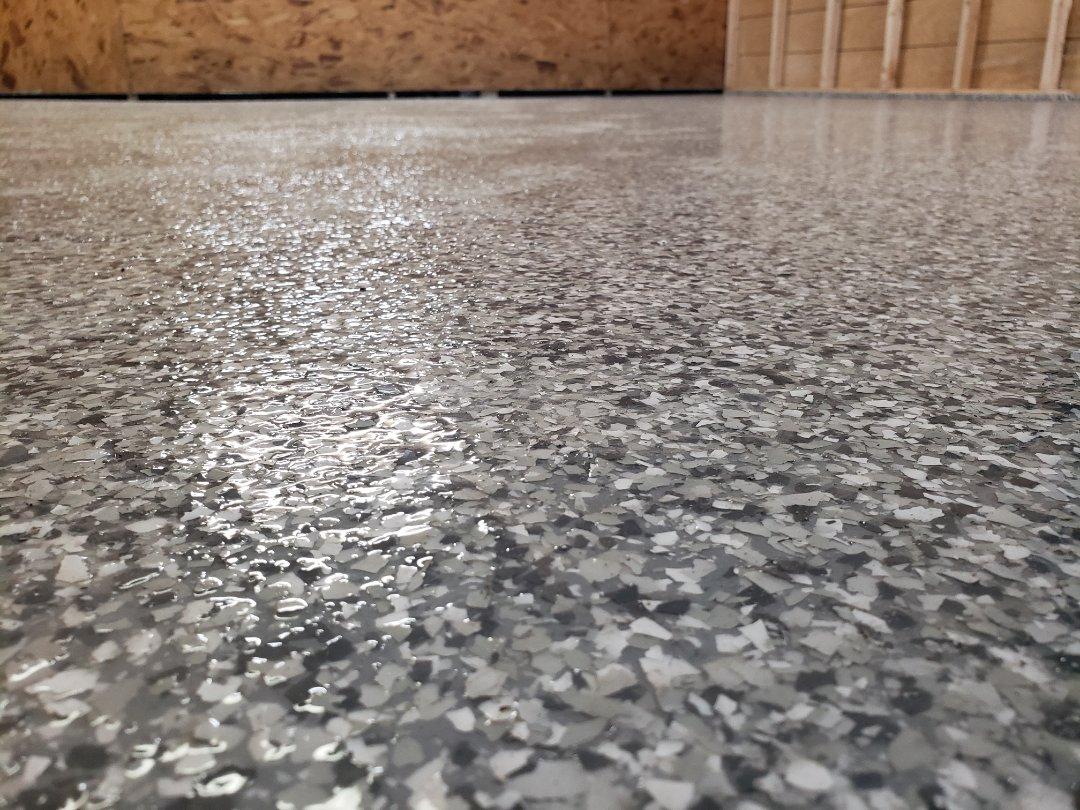 Celina, OH - Epoxy flake garage flooring