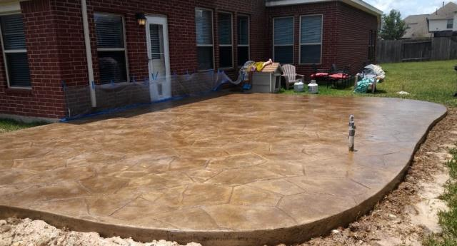 Richmond, IN - Brant does EXCELLENT work with decorative concrete coatings!
