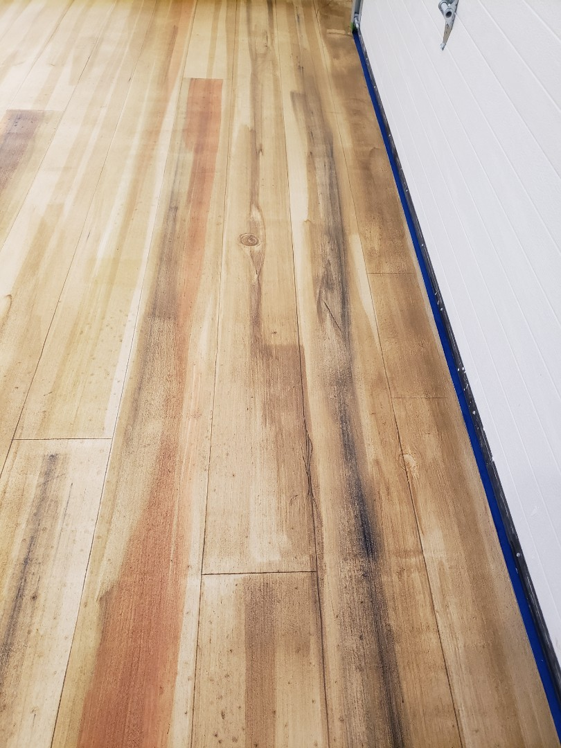 Dayton, OH - Rustic concrete coating wood flooring near Dayton Ohio
