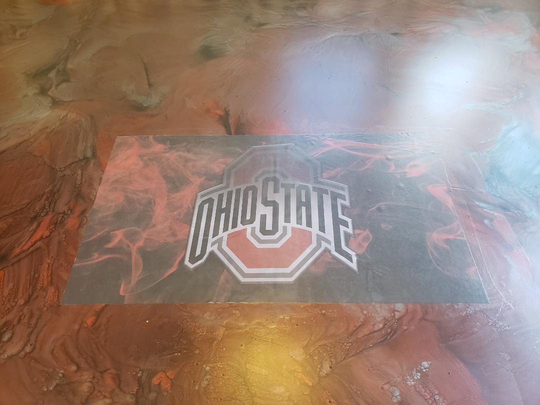 Celina, OH - Metalic marble epoxy flooring resurfacing
