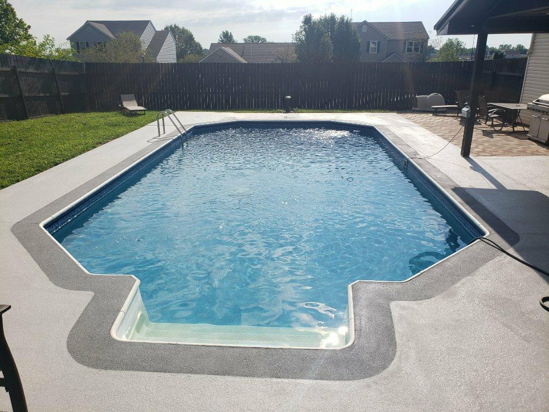 Celina, OH - Pool deck resurfacing