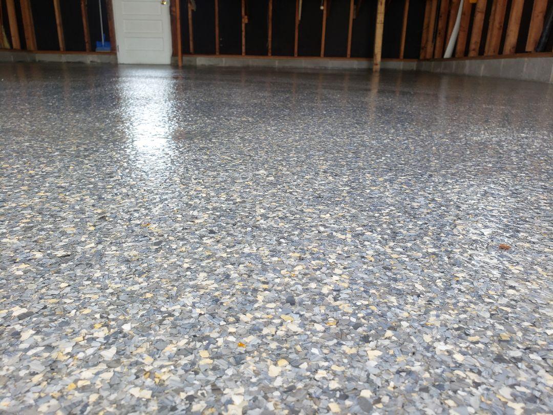 Celina, OH - Epoxy flake garage flooring resurfacing waterproof flooring near Celina Ohio