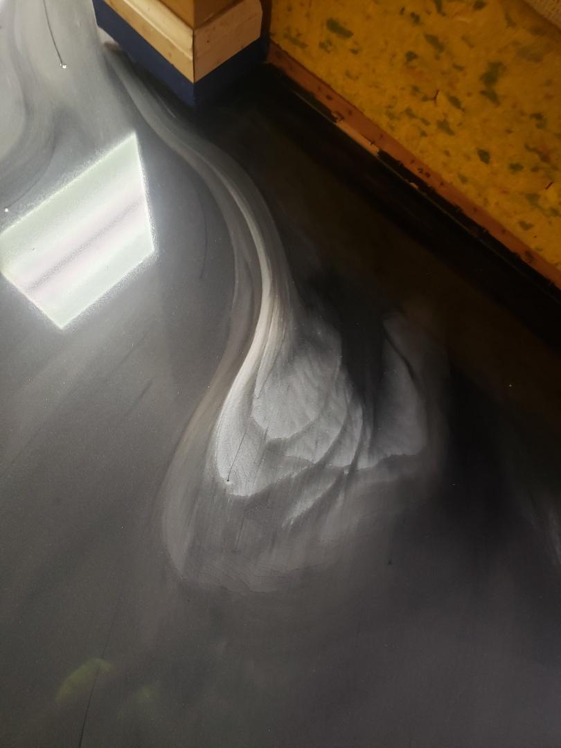 Celina, OH - Metalic marble basement epoxy flooring waterproof flooring