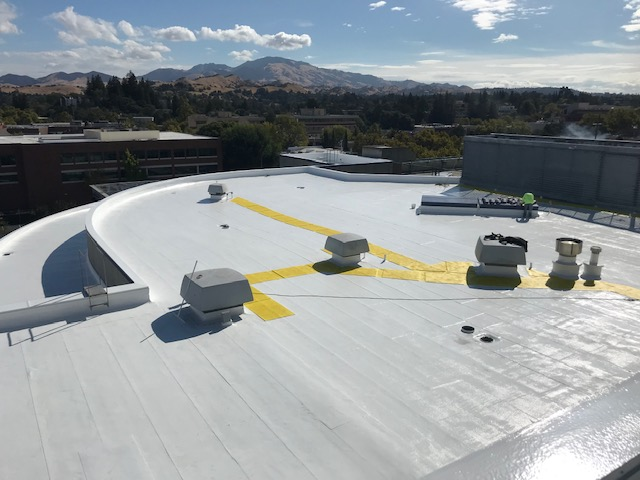 Walnut Creek, CA - 20,000 square foot flat roof replacement using silicone roof coatings