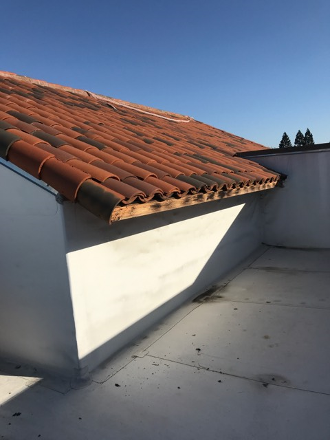 San Ramon, CA - Our commercial roofing team here at Allied Construction Services did an emergency repair to secure ground for any falling tiles and secure metal flashing that was being moved by the wind.