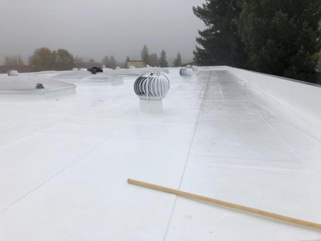 Cotati, CA - Our commercial roofing team here at Allied Construction Services did a new acrylic coat on this roof near Primero Ave, in Cotati, CA.