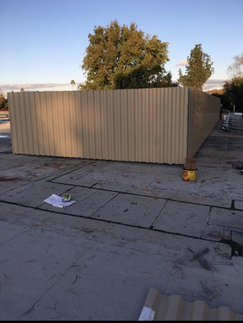 Walnut Creek, CA - Our commercial construction team here at Allied Construction Services installed a sightscreen around any roof equipment at Regency Centers, near Ygnacio Valley Rd, in Walnut Creek, CA.
