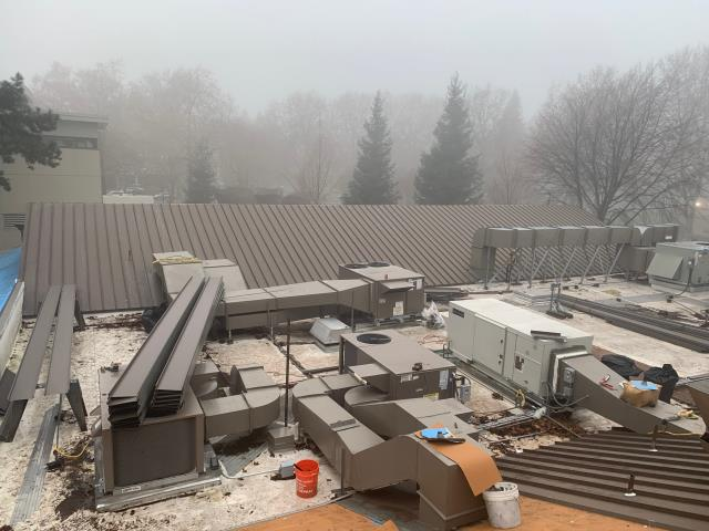 Walnut Creek, CA - Our commercial construction team here at Allied Construction Services have been doing demo to replace dry rot on the roof deck and installing new underlayment, fire sheet, and new standing seam roof system near Civic Drive, in Walnut Creek, CA.