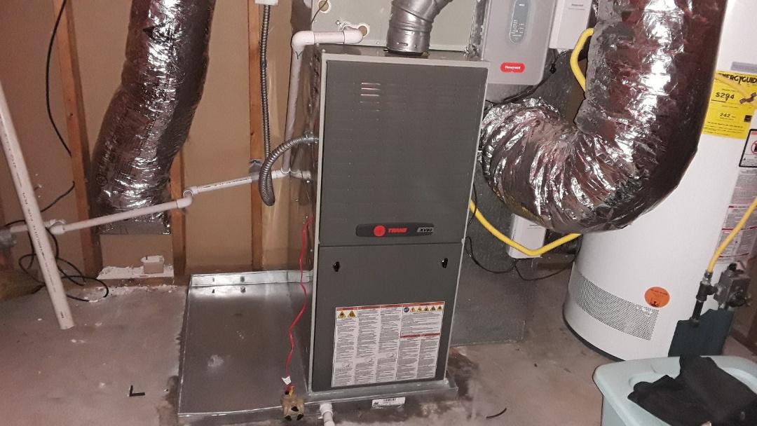 Acworth, GA - Performed Heat and Cooling Check Up on Rheem Furnace and Trane furnace. AC's Trane. Acworth