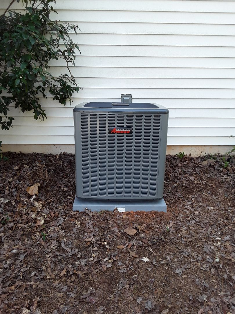 Roswell, GA - Installed new Amana 16 seer condensor and Amana 2 stage gas furnace