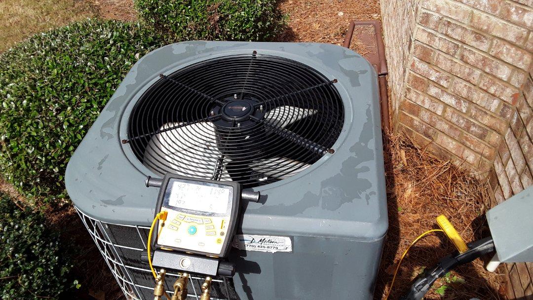 Acworth, GA - Performed AC Maintenance on a Amana Condensing Unit. Acworth