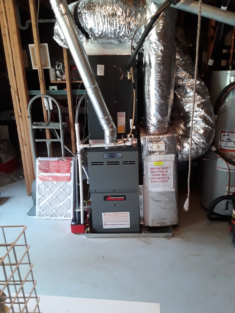 Kennesaw, GA - Installed new Amana 16 seer condensor with new Amana gas furnace