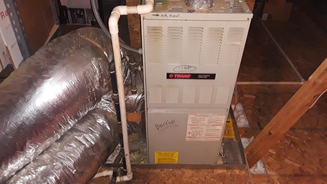 Powder Springs, GA - Inspection furnace. Check out Trane furnace. Dallas