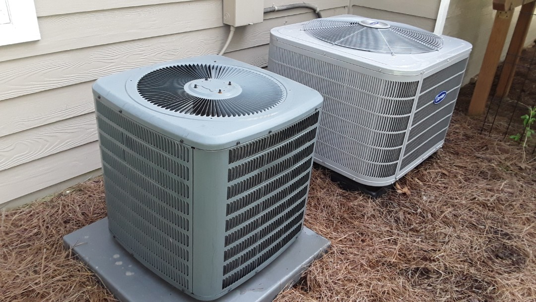 Kennesaw, GA - Performed AC Maintenance on a Carrier and Goodman condensing units. Kennesaw