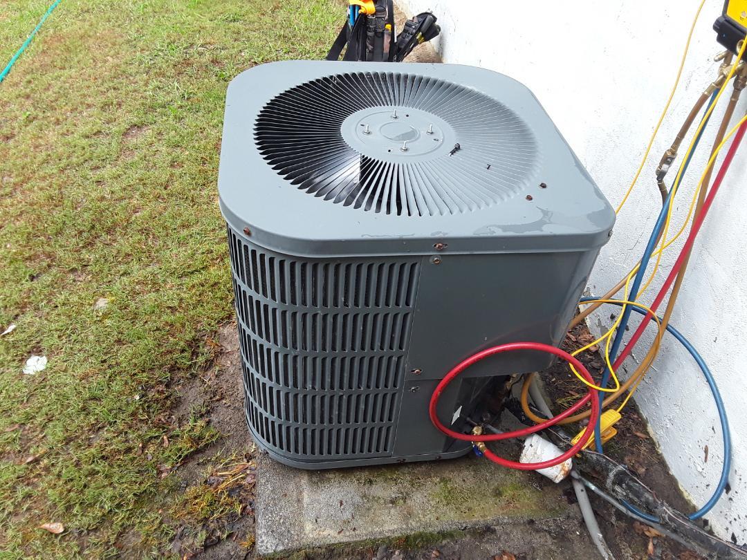 Powder Springs, GA - Performed AC Maintenance on a Goodman Condensing.  Powder Springs.