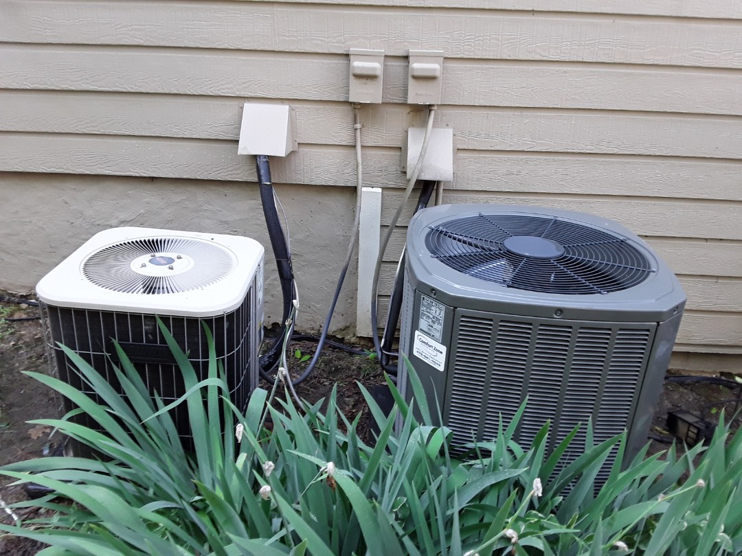 Powder Springs, GA - Performed AC Maintenance on a Lennox and Teane Condensing Units. Powder Springs