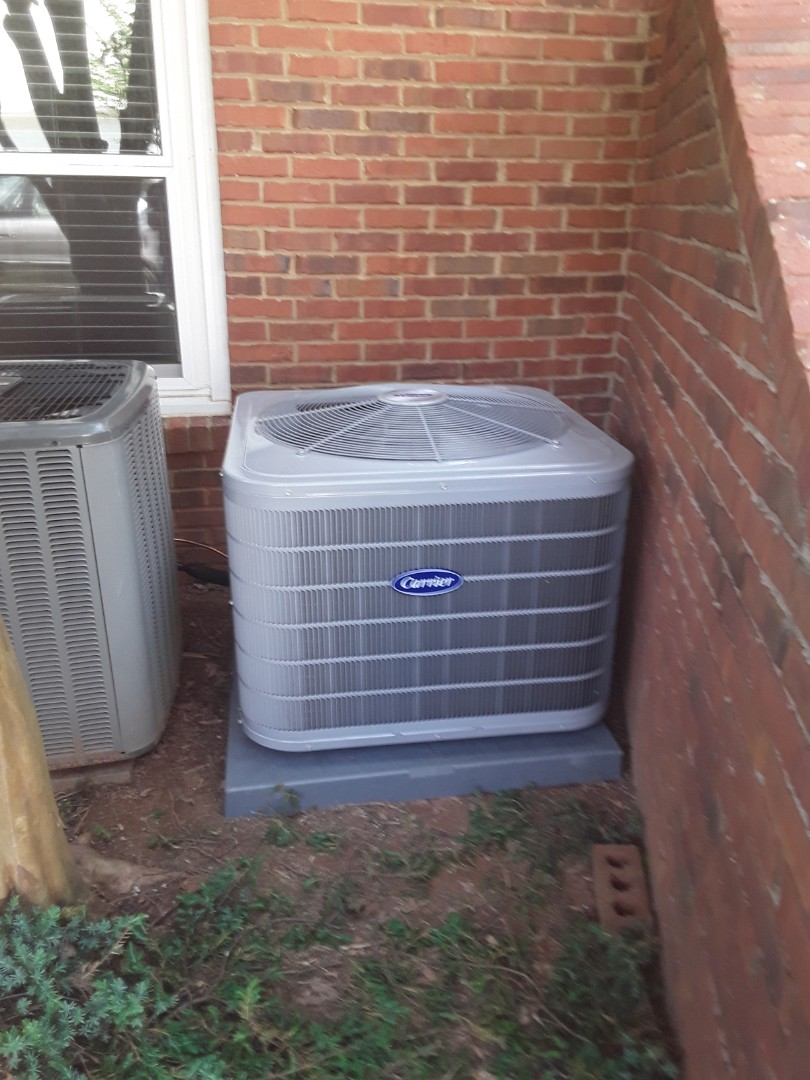 Smyrna, GA - Installed new Carrier 16 seer condensor with new Carrier 2 stage variable speed gas furnace and Ecobee WIFI Thermostat