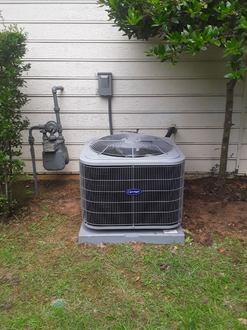 Marietta, GA - Installed new Carrier 14 seer condensor with new Carrier gas furnace