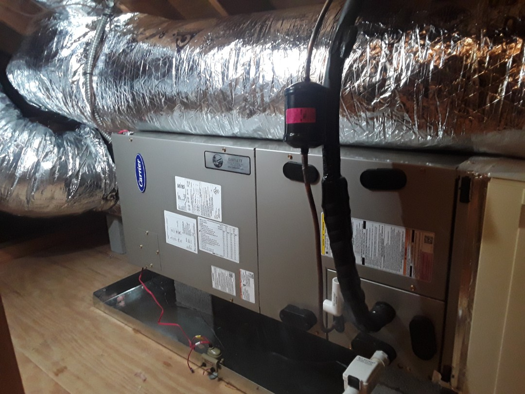 Roswell, GA - Installed new Carrier Infinity 5 stage Heat pump and 2 stage Air handler with Carrier Infinity Mytouch WIFI Thermostat