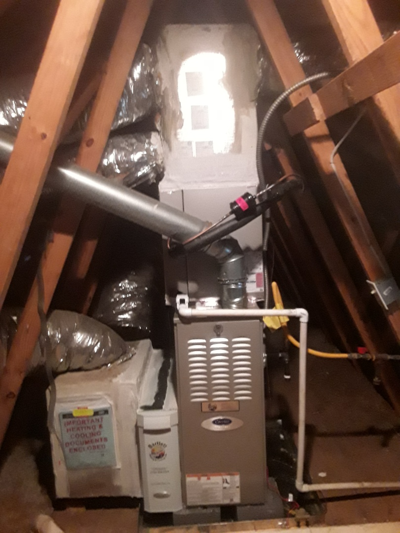 Atlanta, GA - Installed new Carrier 16 seer condensor with new Carrier 2 stage variable speed gas furnace and Ecobee WIFI Thermostat