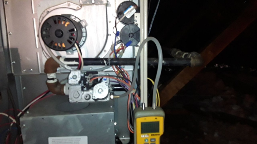 Kennesaw, GA - Performed Heat Maintenance on a Carrier furnace with humidifier. Kennesaw