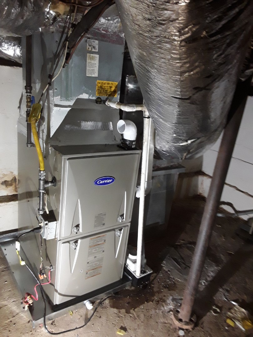 Smyrna, GA - Installed new Carrier 95% gas furnace