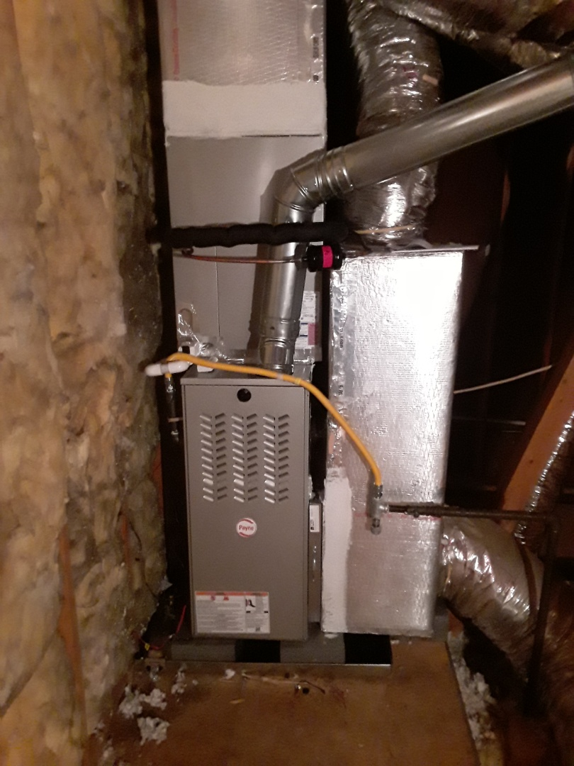 Smyrna, GA - Installed new Payne 14 seer condensor with new Payne gas furnace