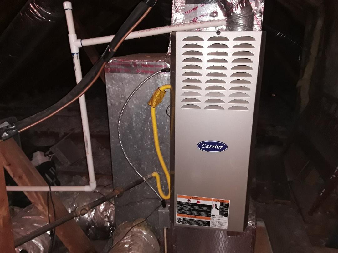 Smyrna, GA - Performed Heat Maintenance on a Carrier furnace. Smyrna